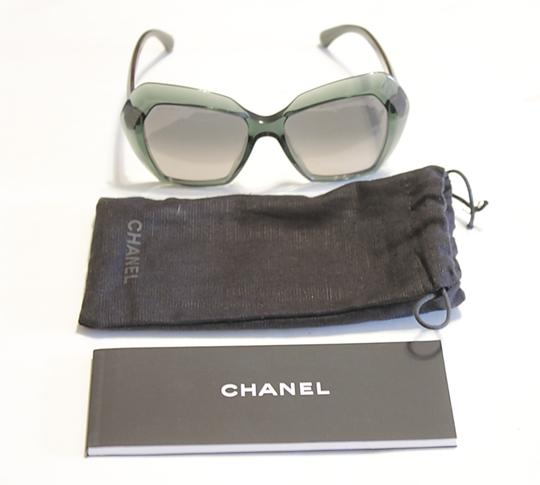 Chanel Chanel Sunglasses Oversized Green Acetate Unigue! Size 54MM Image 4