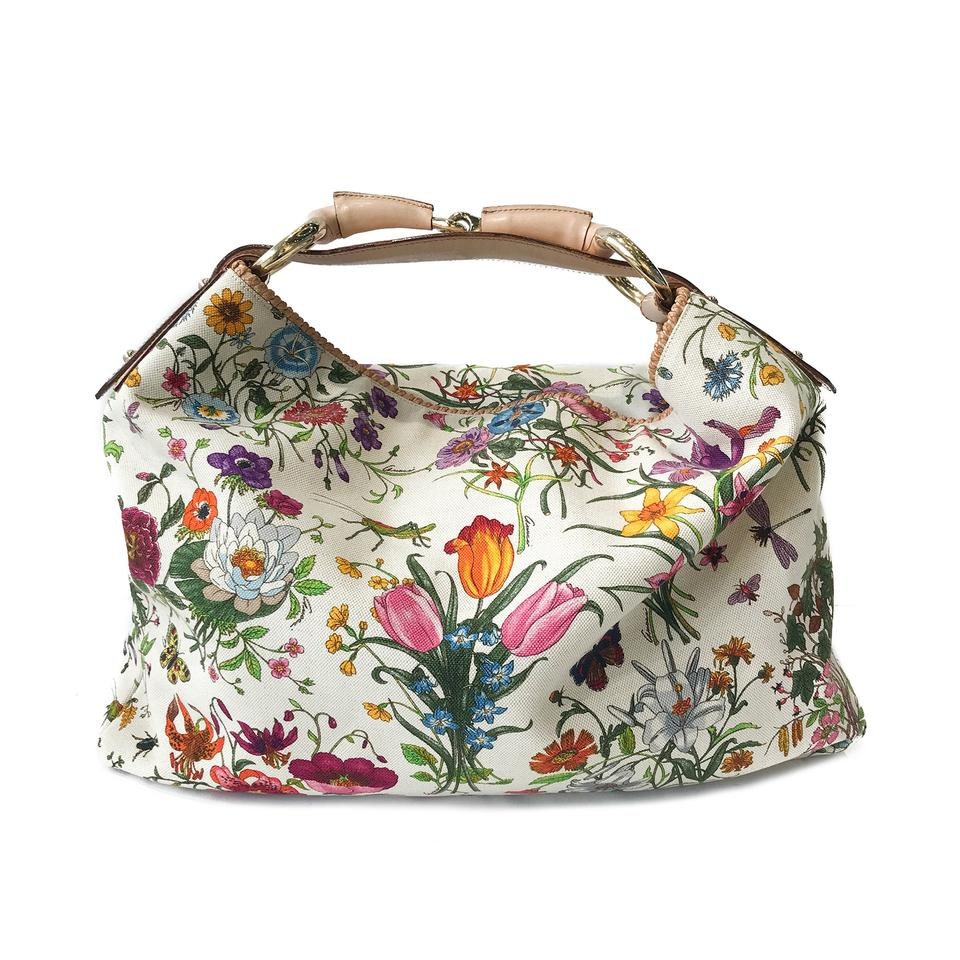 Gucci Floral Print Canvas Hobo Bag - Tradesy 6ea83e3a1d700
