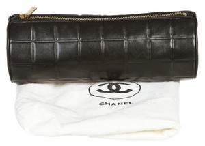 Chanel Chanel Black Lambskin Chocolate Bar Cosmetic Bag
