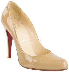 Christian Louboutin Patent Patent Leather Stiletto Classic Nude Pumps