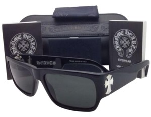 Chrome Hearts New CHROME HEARTS Sunglasses BJORN AGAIN BK 57-16 Black Frame w/ Grey