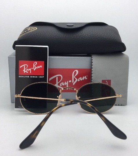 Ray-Ban New RAY-BAN Sunglasses RB 3547-N 001 51-21 145 Gold Frame w/G15 Green Image 6