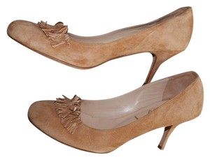 Butter Fringe Suede Leather Insole Tan Pumps