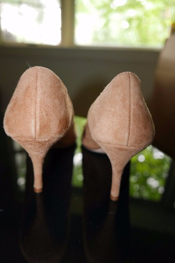 Butter Fringe Suede Leather Insole Tan Pumps Image 3