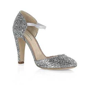 Marc Jacobs Silver Glitter Pumps