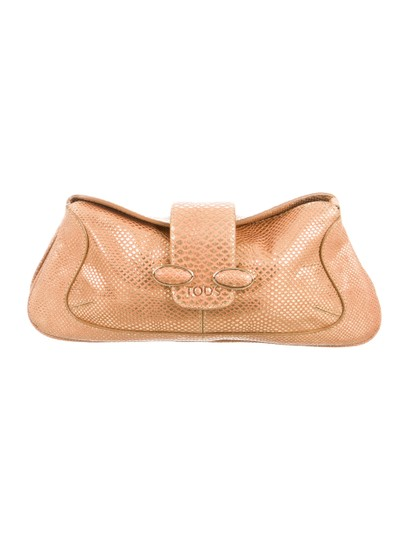 Tod's Gold Clutch Image 0