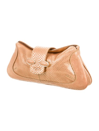 Tod's Gold Clutch Image 2