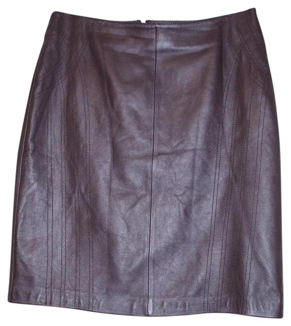 Item - Brown Leather Pencil Skirt Size 10 (M, 31)