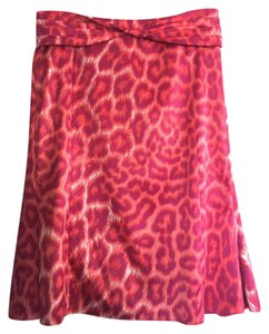Just Cavalli Leopard Skirt Fuchsia