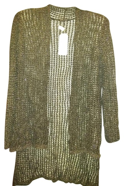 Item - Pewter Silver Open Front Knitted Cardigan Size 6 (S)