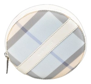 Burberry Authentic Burberry Blue and White Plaid Round Coin Purse