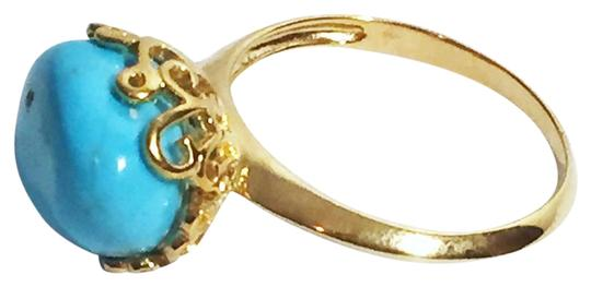 Preload https://img-static.tradesy.com/item/22179708/gold-turquoise-nugget-polished-vermeil-sterling-silver-ring-0-1-540-540.jpg