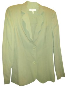 Escada Escada wool skirt suit with scallopped front