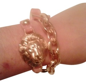 Jelly Wrap Around Link Bracelet with Gold Lion Charm NWT