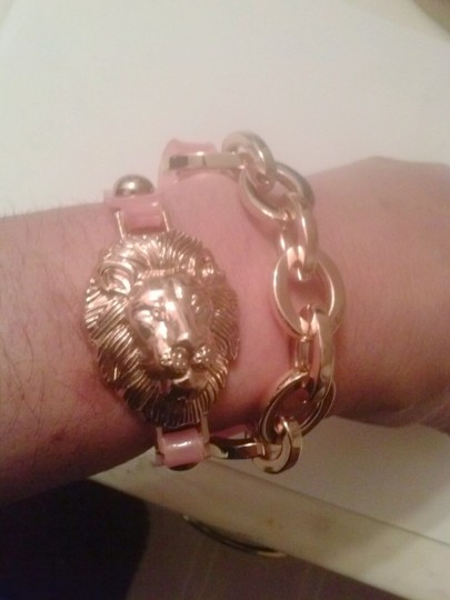 Other Jelly Wrap Around Link Bracelet with Gold Lion Charm NWT