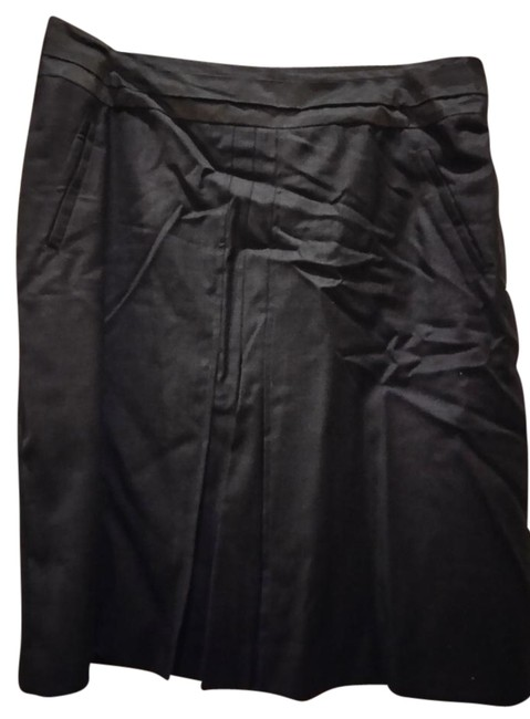 Preload https://img-static.tradesy.com/item/22179808/gerard-darel-charcoal-grey-with-pleats-knee-length-skirt-size-12-l-32-33-0-1-650-650.jpg