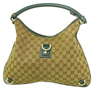 Gucci Abbey D-ring Extra Size Gold Hardware Excellent Vintage Great Everyday Hobo Bag