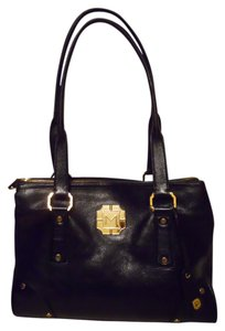 MONET Leather Tote in black