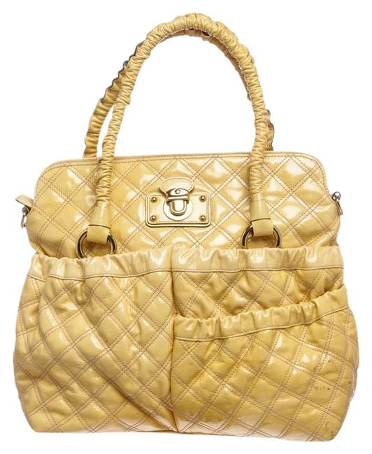 Item - Quilted Julianne Bowler Yellow Patent Leather Satchel