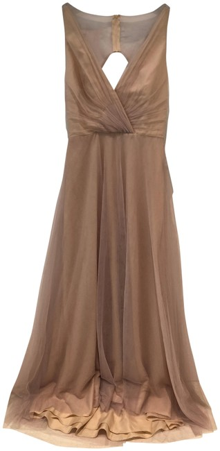 Item - Beige Bridesmaids Long Formal Dress Size 8 (M)