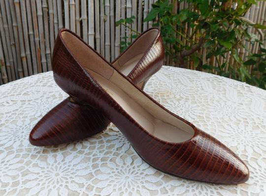 Hush Puppies Leather Brown Pumps Image 1