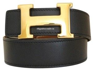 Hermès Authentic Hermes 32MM/95CM Constance Reversible Belt Kit Gold Buckle