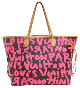 Louis Vuitton Lv Neverfull Graffiti Canvas Gm Shoulder Bag