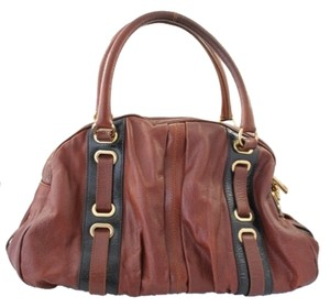 Marc Jacobs Hudson Brown Satchel in Cognac