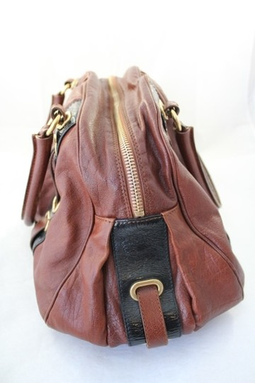 Marc Jacobs Hudson Brown Leather Satchel in Cognac