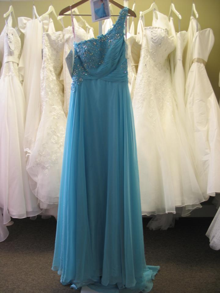 Kiss kiss formal mystic blue p c mary 39 s bridal p3705 for Pc mary s wedding dress