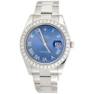 Rolex Rolex DateJust II 116334 Diamond Watch Azure Blue Roman Dial 2.75 CT.