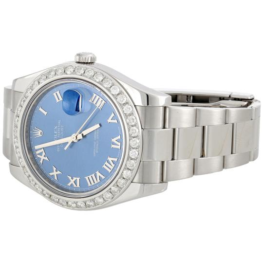Rolex Rolex DateJust II 116334 Diamond Watch Azure Blue Roman Dial 2.75 CT. Image 2