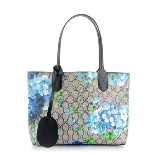Gucci Small Blooms Blue Tote Gucci Small Blooms Blue Tote Image 1
