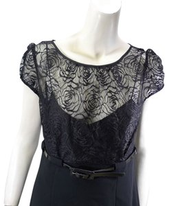 Calvin Klein Lace Belted Dress
