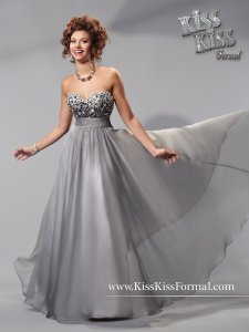 Kiss Kiss Formal Dark Platinum P.c. Mary's Bridal S15-p3707 Dress