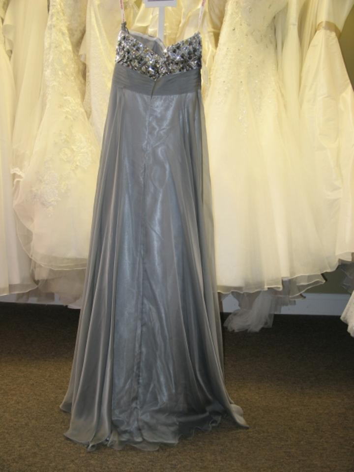 Kiss kiss formal dark platinum chiffon p c mary 39 s bridal for Pc mary s wedding dress