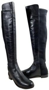 Stuart Weitzman Over The Knee 5050 Micro Stretch Napa Black Leather Boots