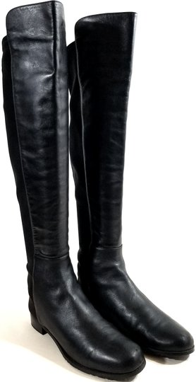 Stuart Weitzman Over The Knee 5050 Micro Stretch Napa Black Leather Boots Image 1