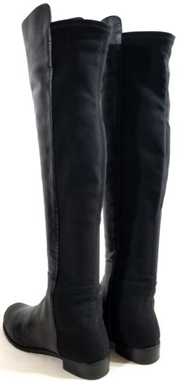 Stuart Weitzman Over The Knee 5050 Micro Stretch Napa Black Leather Boots Image 4