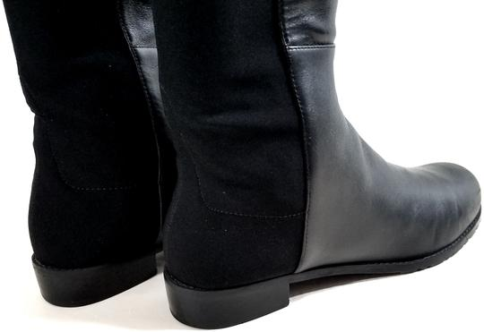 Stuart Weitzman Over The Knee 5050 Micro Stretch Napa Black Leather Boots Image 5