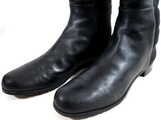 Stuart Weitzman Over The Knee 5050 Micro Stretch Napa Black Leather Boots Image 6