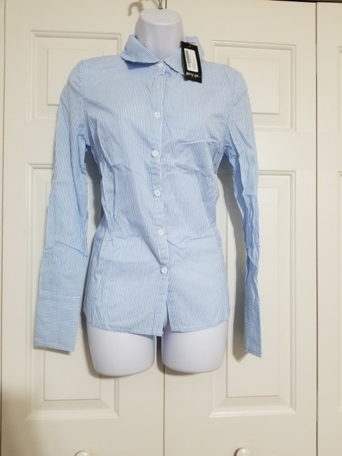 Nasty Gal Button Down Shirt Blue Image 2