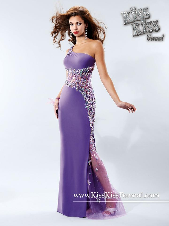Kiss Kiss Formal Violet Stretch Jersey P.c. Mary\'s Bridal P3718 Sexy ...