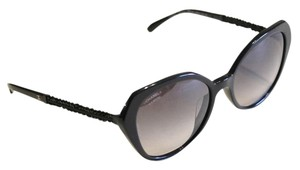 83445fe672c07 Chanel Chanel Sunglasses 5375 Black Faceted Crystal Arms Size 56mm POLARIZED