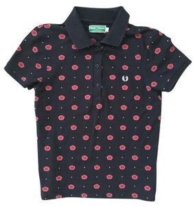 Fred Perry Polo Amy Winehouse T-shirt Classic T Shirt Black