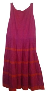 Fuchsia/Red Maxi Dress by Talbots