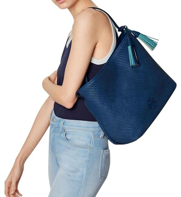 Item - Thea In Tidal Wave Blue Leather Hobo Bag