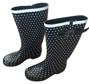 Nomad Rain Boots Adorable Dot Black with White Polka Dots Boots