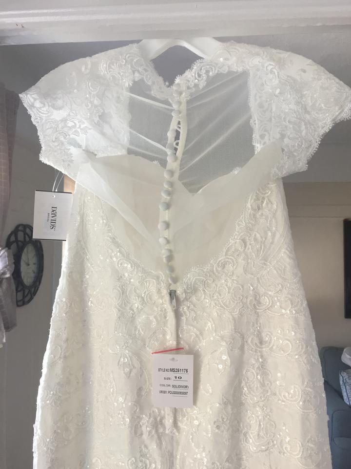 4b991f609e222 Melissa Sweet Ivory Lace Tiered Mermaid with Ms251175 Vintage Wedding Dress  Size 6 (S). 1234. 1 ∕ 4