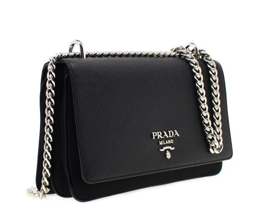 Preload https://img-static.tradesy.com/item/22182189/prada-shoulder-chain-black-leather-nylon-cross-body-bag-0-2-540-540.jpg